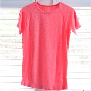 BCG coral colored tshirt.
